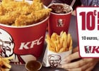 10 euros pour deux : le nouveau Menu Friends Bucket de KFC  - Menu Friends Bucket KFC