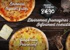 3 pizzas infiniment fromagères chez La Boîte à Pizza   - Pizzas fromagères