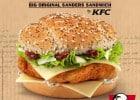 Big Original Sanders Sandwich KFC  - Affiche publicitaire The B.O.S.S