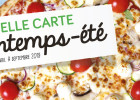 Carte printemps-été 2019 de La pizza de Nico  - Carte printemps-été 2019