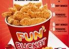 Des Buckets offerts chez KFC  - Fun'Bucket KFC