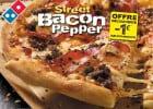 Des pizzas pour affronter l'automne chez Domino's Pizza  - Pizza Street Bacon Pepper