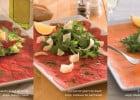 Des spécialités italiennes chez Bistro Romain  - Assiettes de Carpaccios Bistro Romain