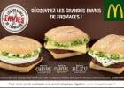 Grandes envies de fromages chez Mc Donald's  - Les burgers au fromage