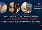 Il Ristorante lance le concours du meilleur risotto   - Affiche du concours Risotto