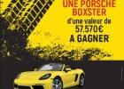 Jeu concours chez Bistro Régent : une Porsche à gagner  - Jeu concours