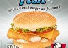 KFC : les stars de vos menus  - Le burger Double Fish
