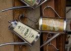 L'huile d'olive extra-vierge (HOVE)  - Huile d'olive extra-vierge sur présentoire