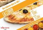 La pizza Curry signée Le Kiosque à Pizzas  - Pizza La Curry