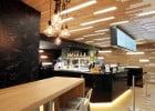 Le chef étoilé Bras ouvre son fast-food  - Comptoir et salle du fast-cook d'un chef