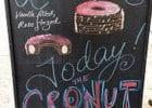 Le cronut  - Ardoise de menu annonçant le cronut