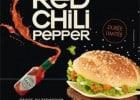 Le Red Chili Pepper de McDo  - Burger Red Chili Pepper