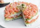 Les meilleures recettes hybrides de fast-food   - Le gâteau de sushis