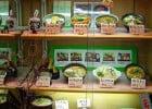 Les plats en résine des restaurants japonais  - Vitrine exposant des plats en résine