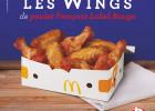 Les wings Label Rouge de retour chez Mc Donald's  - Wings Label Rouge
