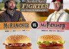 McFarmer, McRancher et McTimber de Mc Donald's  - Affiche Clics Fighter McRancher Vs McFarmer