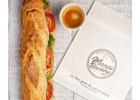 Sandwich brésilien et tarte à la Boulangerie Marie Blachère  - Sandwich dans une baguette de Marie