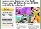 Sushi à Paris : le bon plan !  - Promotion sur les sushis