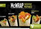 Un nouveau McWrap chez Mc Donald's  - Les McWrap dont le McWrap Chèvre