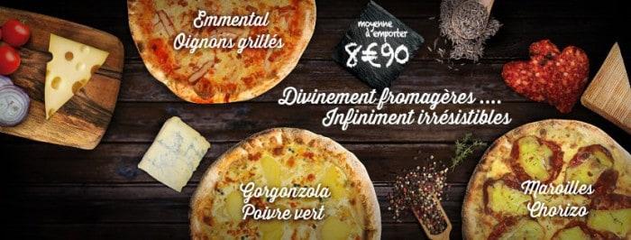 Pizzas fromagères
