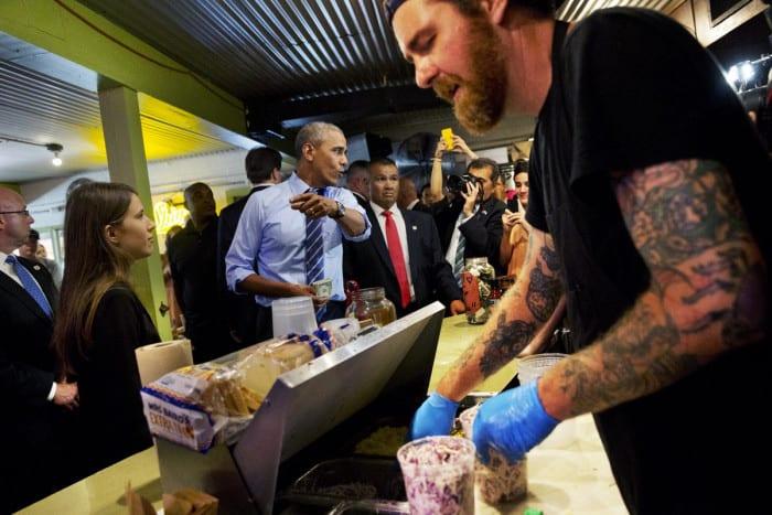 Un burger pour Obama