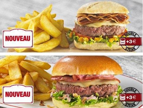 Deux nouveaux hamburgers