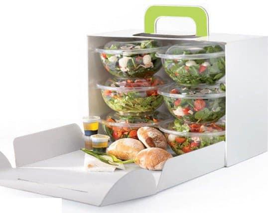 Barquettes de salade à emporter