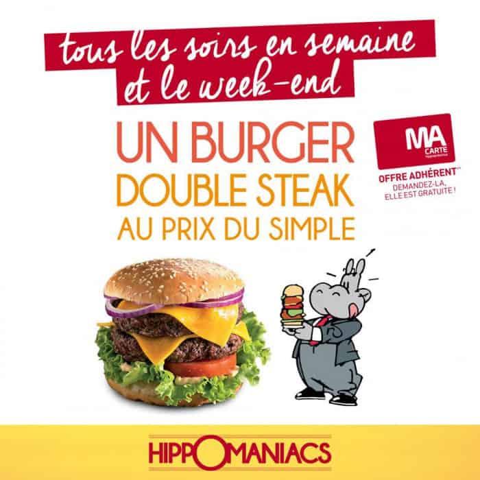 Réduction sur le prix du burger Double Steak