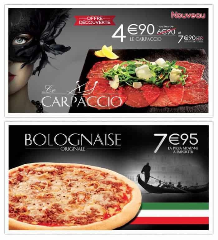 Bolognaise et Carpaccio