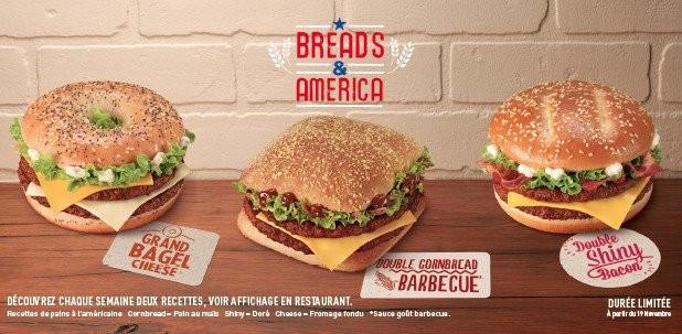 3 burgers américains signé McDo