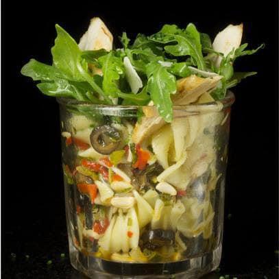 Une salade en verrine
