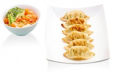 Gyoza végétarien et salade fraicheur