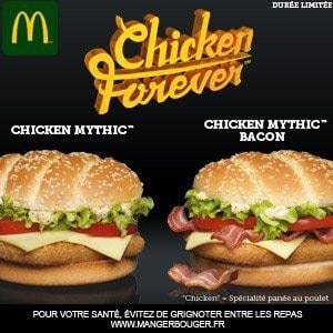 Les 2 burgers Chicken Forever