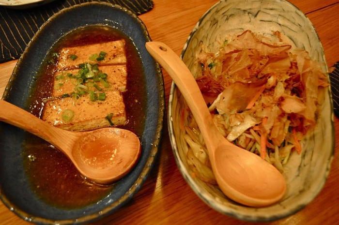Tofu et légumes cuits au Teppanyaki