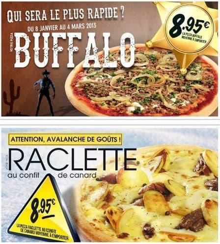La pizza Buffalo avec du boeuf haché