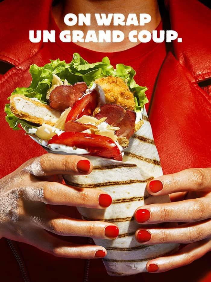 Wrap burger king