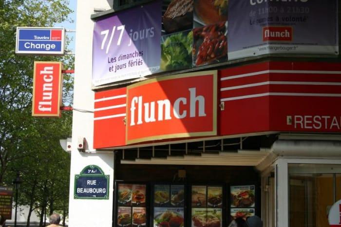 Devanture du Flunch à Beaubourg