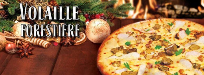 Pizza Volaille Forestière
