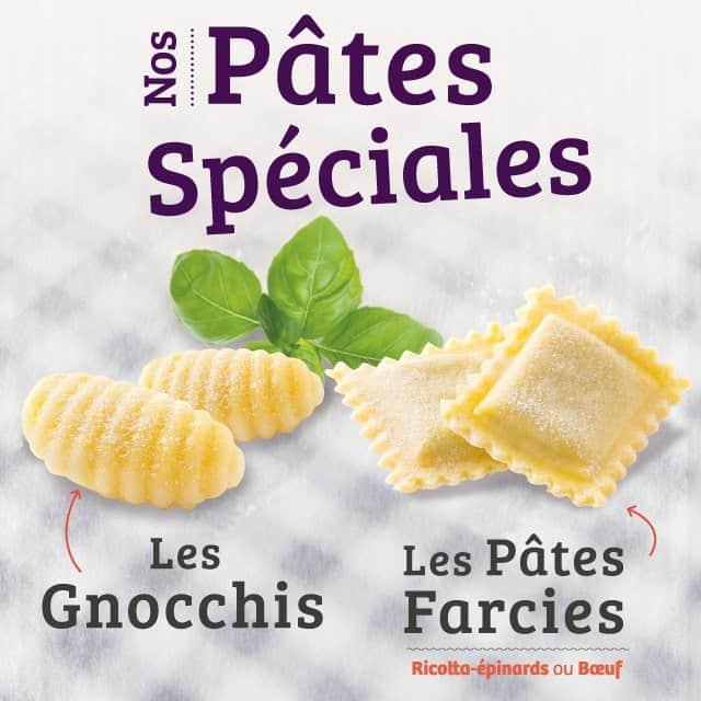 Les pâtes spéciales