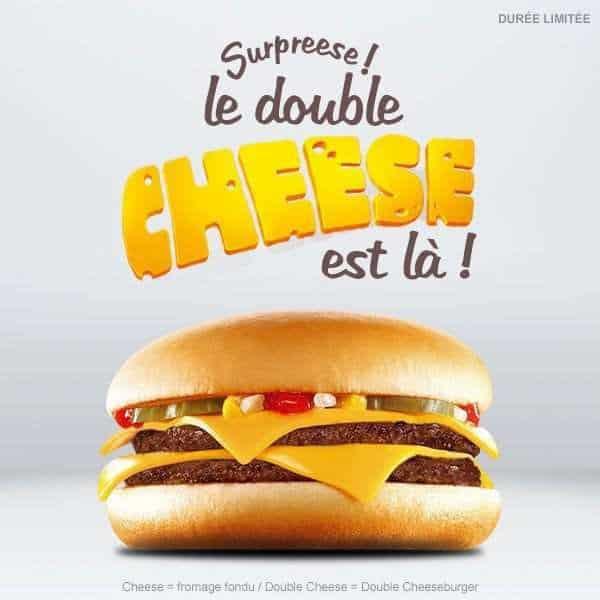 Double Cheese de Mc Do