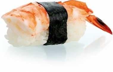 Crevette en sushi