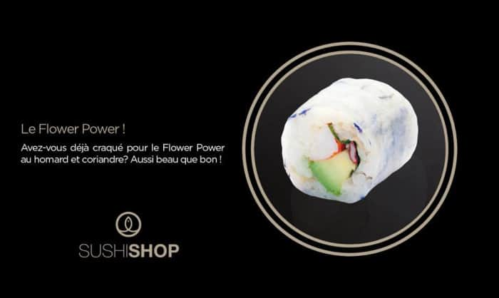 Flower Power Spring Roll Sushi Shop