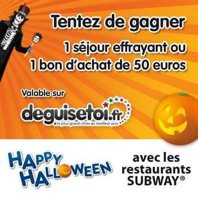 Happy Halloween avec Subway