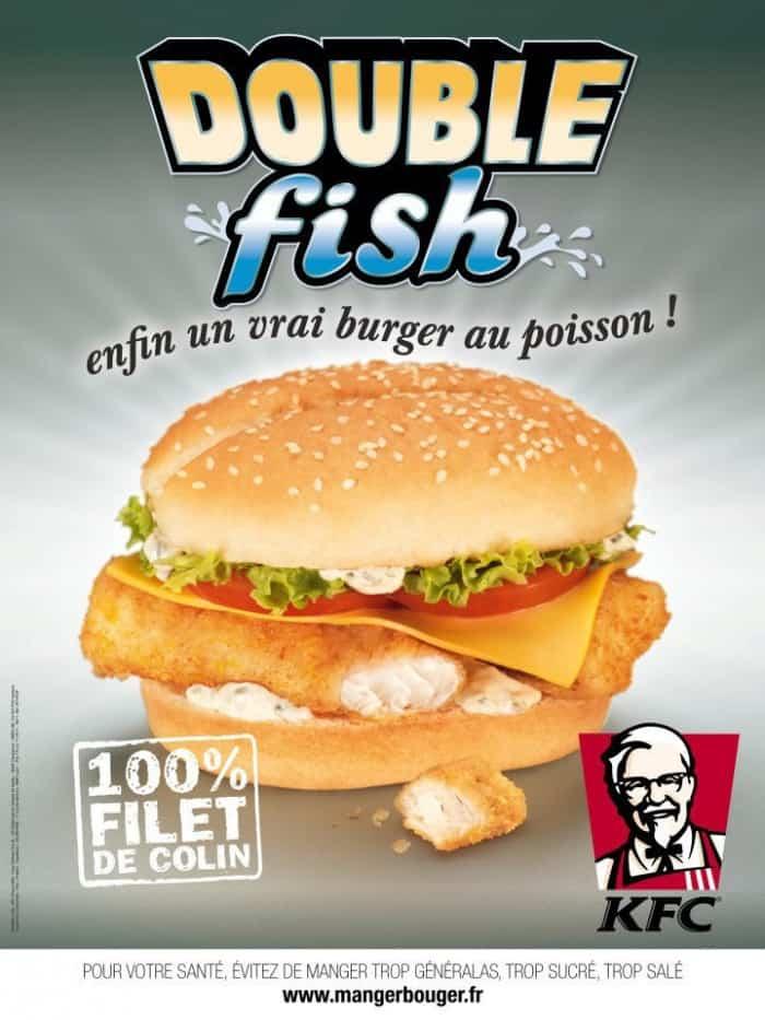 Le burger Double Fish