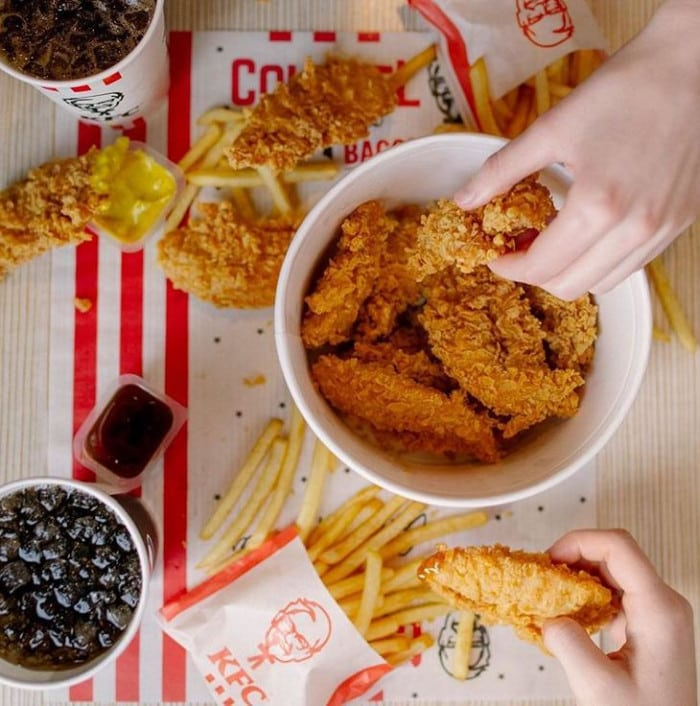 KFC bucket poulet