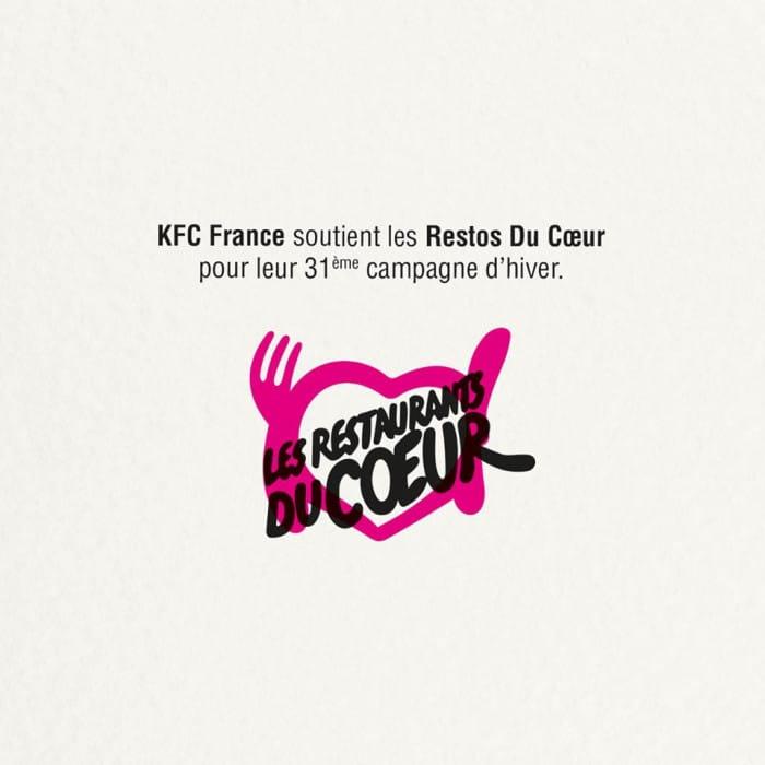 KFC et les Restaurants du Coeur