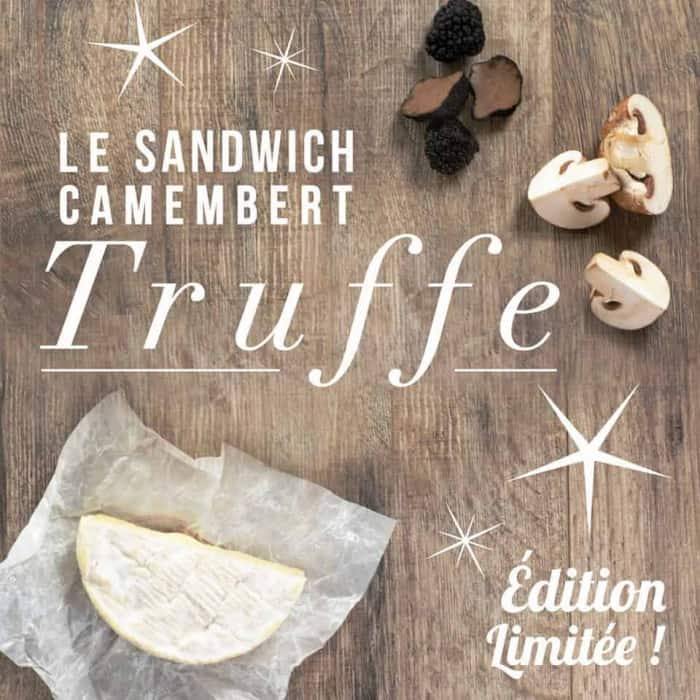 Sandwich au camembert et à la truffe