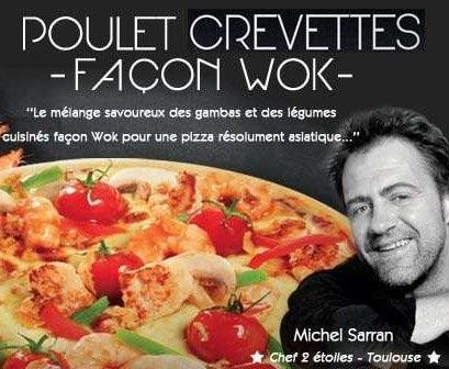 Pizza Poulet Crevettes façon wok