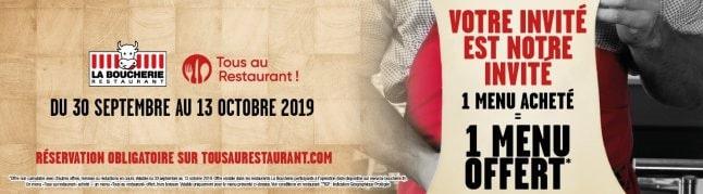 La Boucherie participe à Tous au restaurant