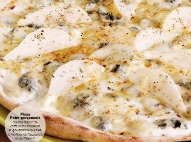 Pizza à base de crème fraîche